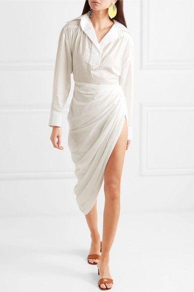 06330e5d332a Jacquemus - Amadora asymmetric cotton dress | fabulous fashion ...