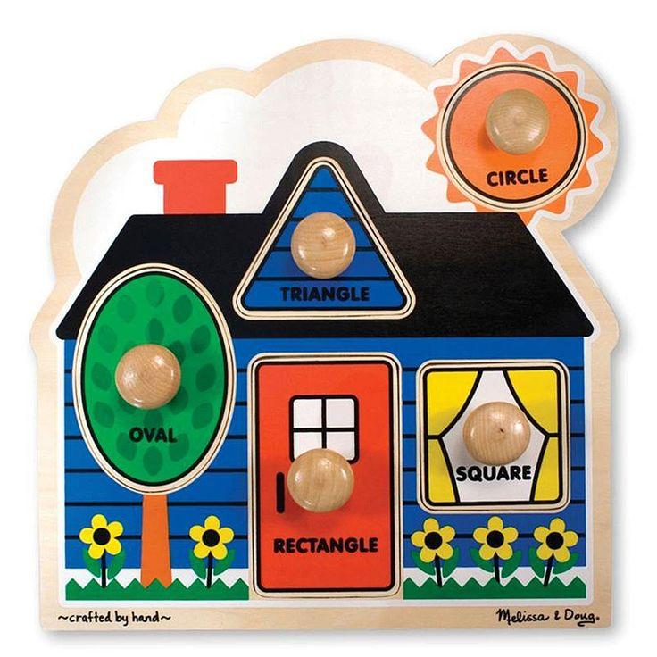 "Melissa & Doug - Jumbo Knob Puzzles - First Shapes - Melissa & Doug - Toys""R""Us"