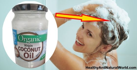 Learn how to put coconut oil on your hair to stop it from going gray, thinning or falling out
