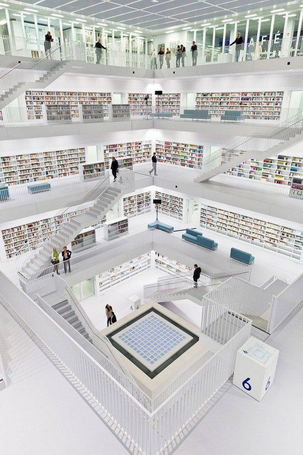 Biblioteca de Stuttgart (Alemania): Libraries, Books, Cities, Germany, Architecture, Places, Design