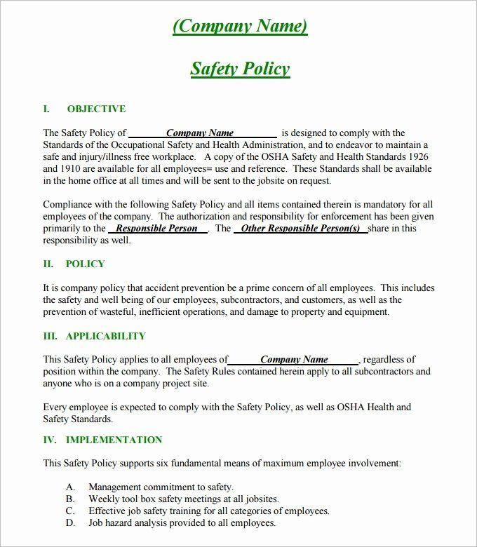 Site Safety Plan Template Lovely 24 Of Site Safety Plan Template Safety Policy Construction Safety Emergency Response Plan