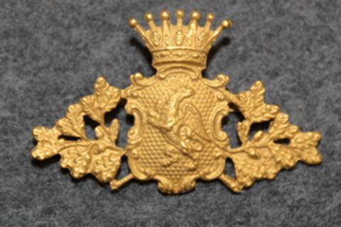 Swedish Police / Chief Constable Cap Badge, Södermanlands län / county, pre 1926