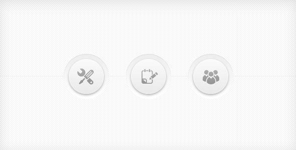 clean navigation menu buttons