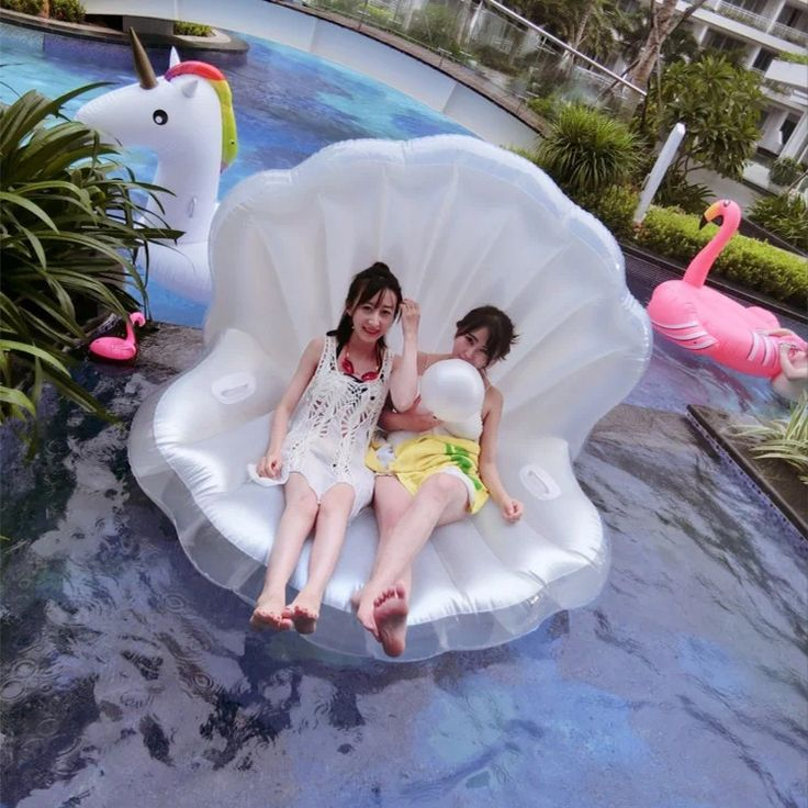 Cheap beach chair, Buy Quality adult beach chair directly from China inflatable beach chair Suppliers: Keangel Adults Giant Pool Float Pearl Scallops Inflatable Shell Floating Mattress Lounger Pearl Ball Floating Beach Chair