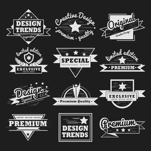 Download Premium Quality Badge Vector Set For Free In 2020 Vintage Labels Vector Free Free Vector Graphics