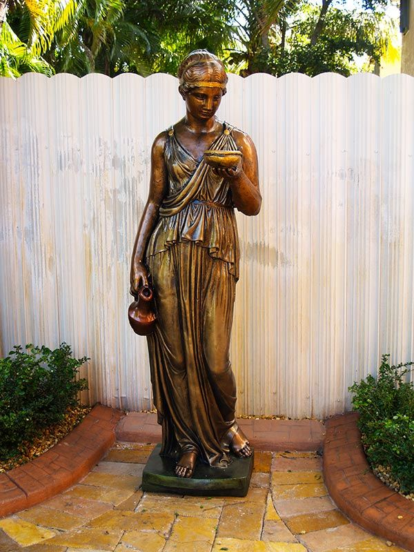 Patio Statues Hand Painted Finishes