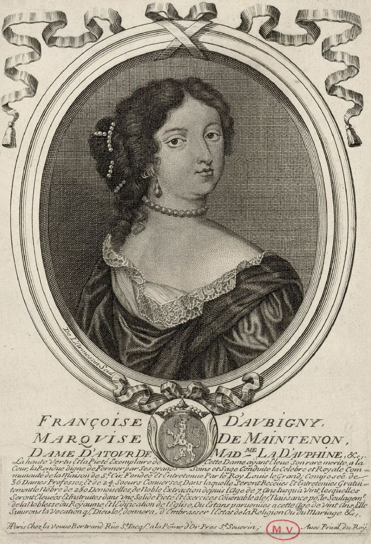 Drawing Of Mme De Maintenon By Larmessin