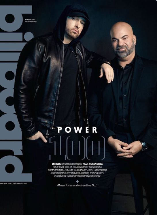 EMINEM and Paul Rosenberg latest issue of Billboard 2018 https://www.billboard.com/photos/8095724/paul-rosenberg-eminem-billboard-cover-photos