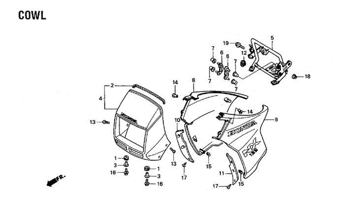 1988 Honda NX125 Parts, 1988 Honda NX125 OEM Parts - BikeBandit.com