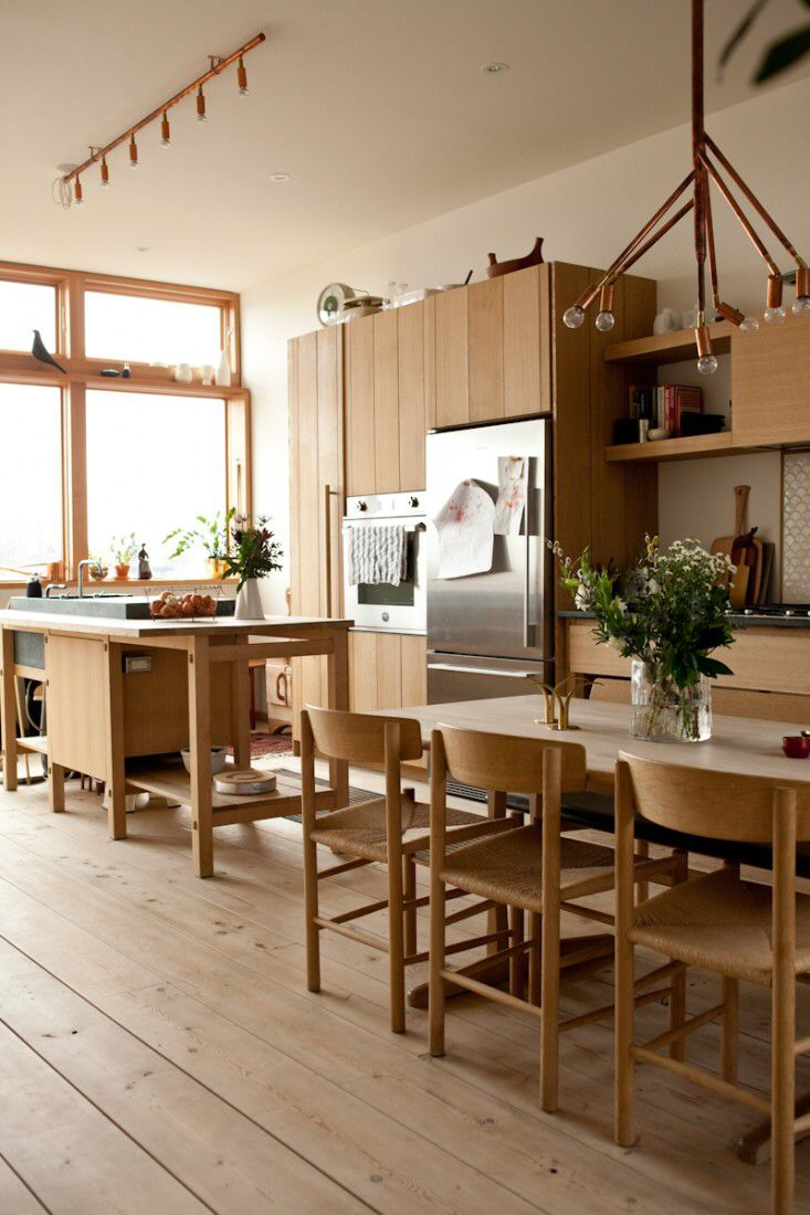 Bertoia chair dining room - John Baker Juli Daoust Studio Junction Kitchen Via Remodelista The Dining Chairs