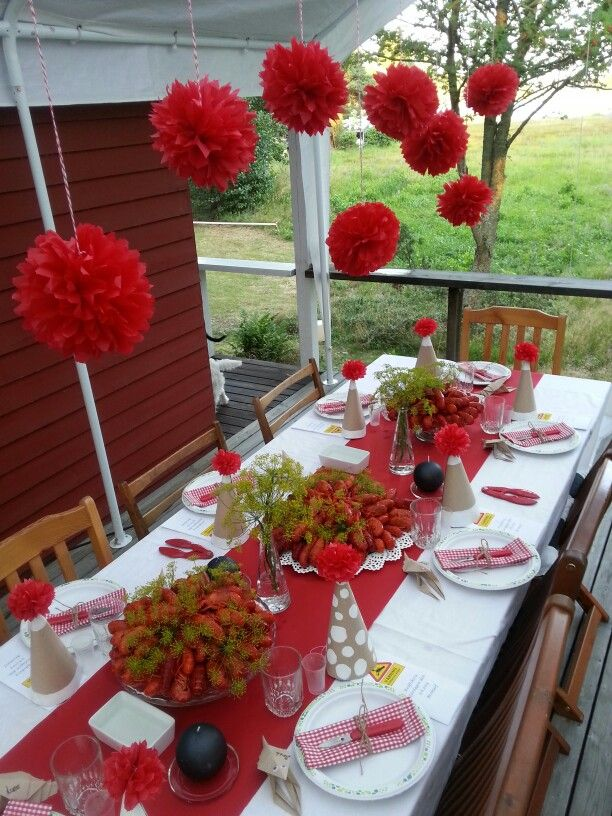 Kräftskiva - Crayfish party - Rapujuhlat / Decoration by Daniela Sundblom