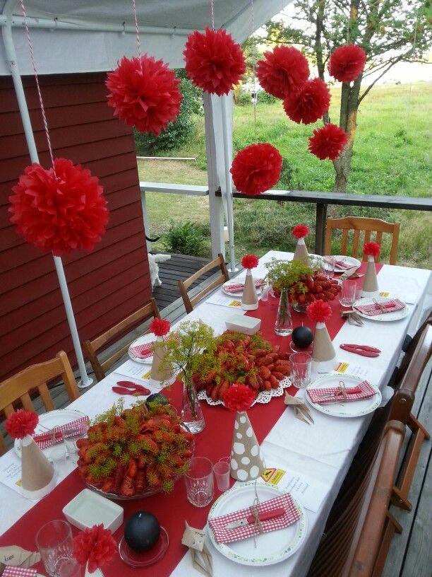 Kräftskiva - Crayfish party - Rapujuhlat / Decoration by Daniela Sundblom