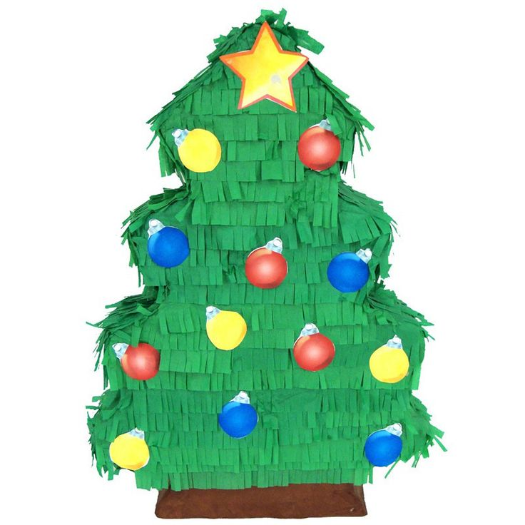 Christmas Tree Pinata for your kids birthday party! Buy at pinatas.com, home of custom pinatas of the highest quality and the widest selection of pinatas on the internet.