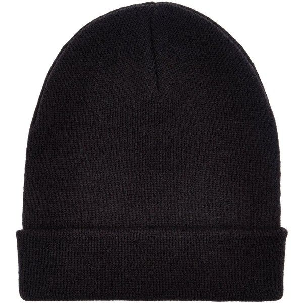 New Look Black Beanie Hat (110 MXN) ❤ liked on Polyvore featuring accessories, hats, black, beanie cap hat, beanie cap and beanie hats