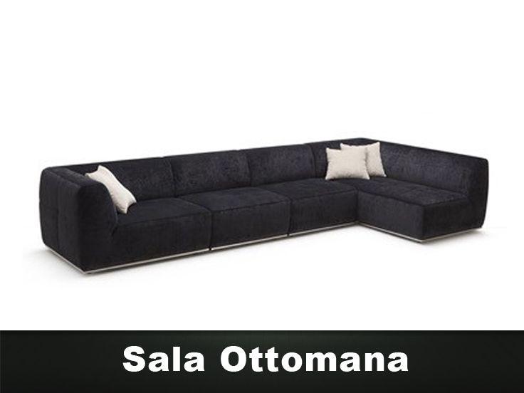 Sala ottomana en esquina de 4 piezas muebles para sala for Muebles de sala modernos