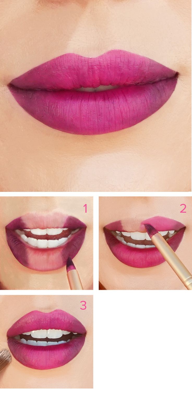 Berry Bombshell Looks! Get this ombre lip using  our Too Faced La Matte lipsticks.