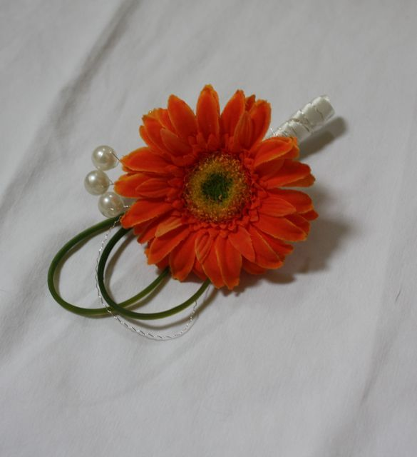 Orange Gerbera Buttonholes