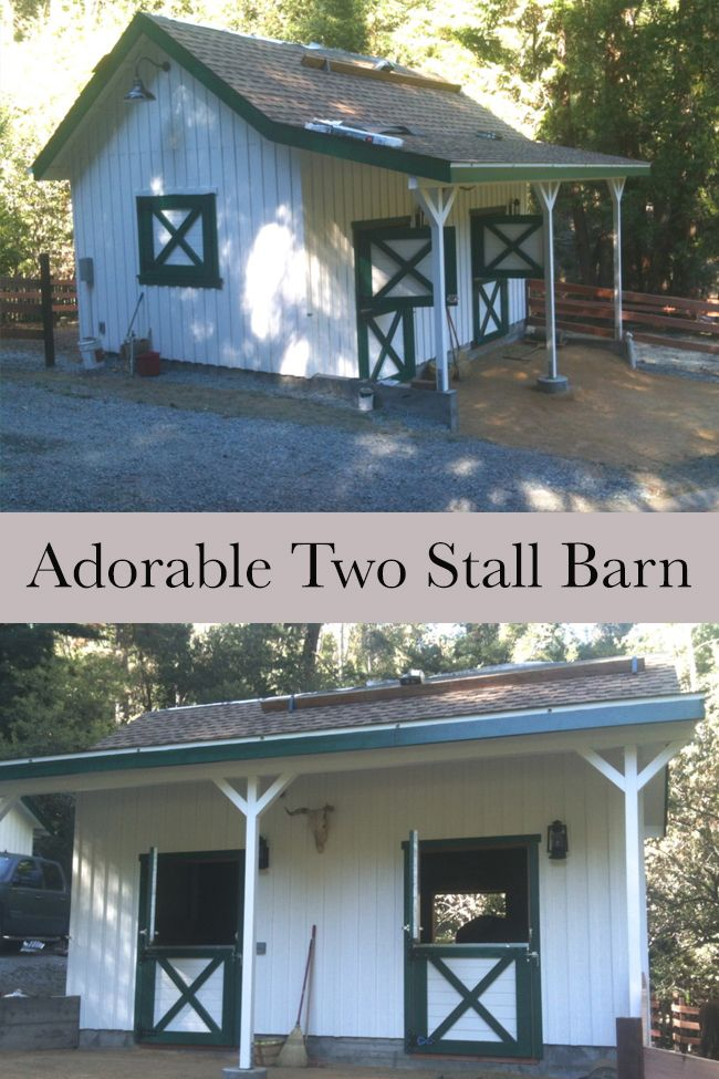 adorable two stall barn