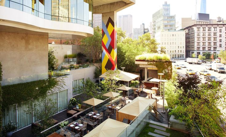 Home to the famous rooftop garden, restaurant and #yoga classes! #TheJamesSoho #NewYork #Hotels #Luxury #UniqueSleeps