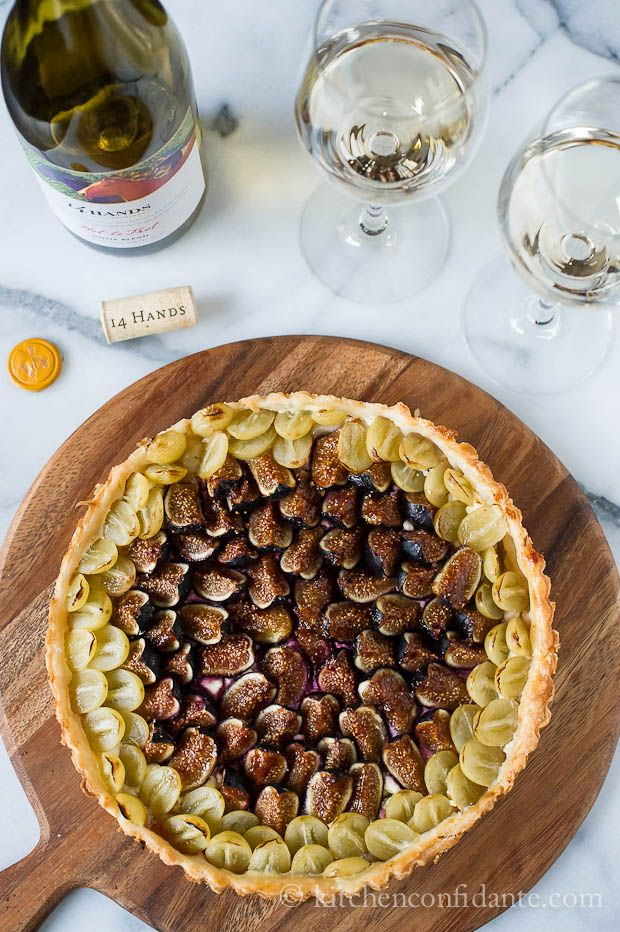Savory Fig and Grape Tart by Kitchen Confidante