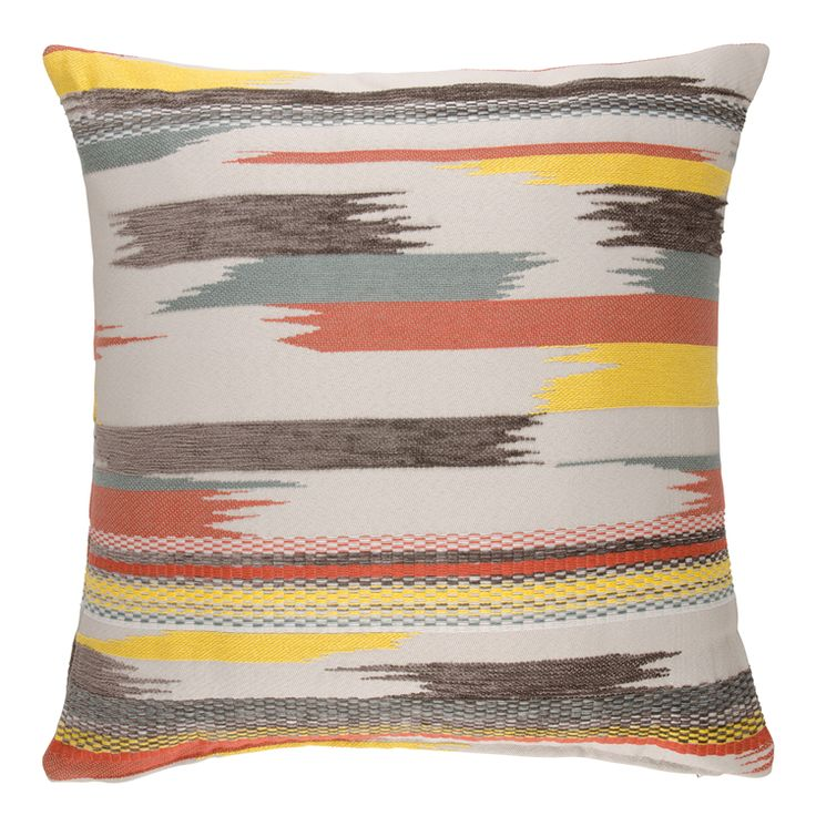 cushion jaggered stripe 60x60cm @HOme