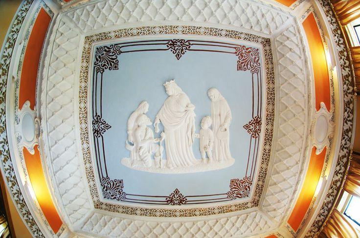 Fantástico tecto trabalhado do Salão Rainha Santa Isabel - Casa das Tílias - Turismo de Habitação - Serra da Estrela