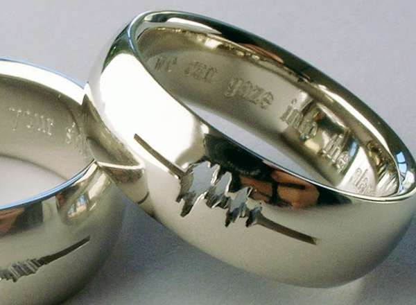 Sound Wave Wedding Rings - The 'I Do' Personal Wedding Bands are Tokens of True Love (GALLERY)
