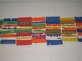 Kindergarten Mexican Patterned Blankets - Jamestown Elementary Art Blog