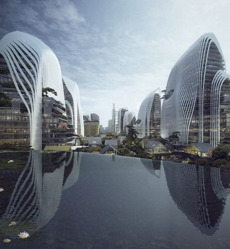MAD presents Nanjing masterplan at mountain-like Venice installation.