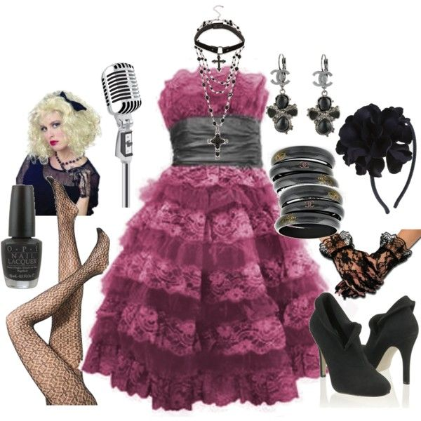 80's Glam girl. Fun fashion for an 80s theme party. Find more 80s party theme ideas at http://sparklerparties.com/rock-the-80s/