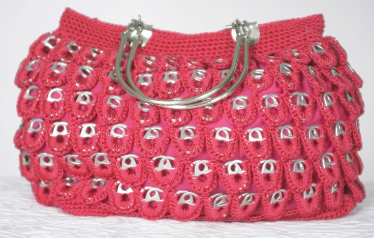 someone tell me if i am charging 20 is too much then : Recycled Soda Tabs Pink Purse. $85.00, via Etsy.