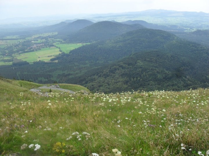 the view from puy de dome, france