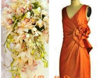 Tropical Garden Real Touch Beach Wedding Bridal by BlueLilyBridal