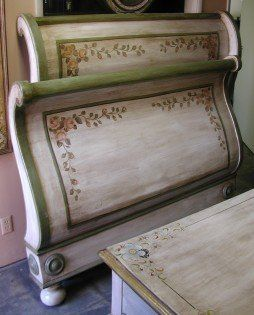 pictures of painted sleigh beds - Google Search