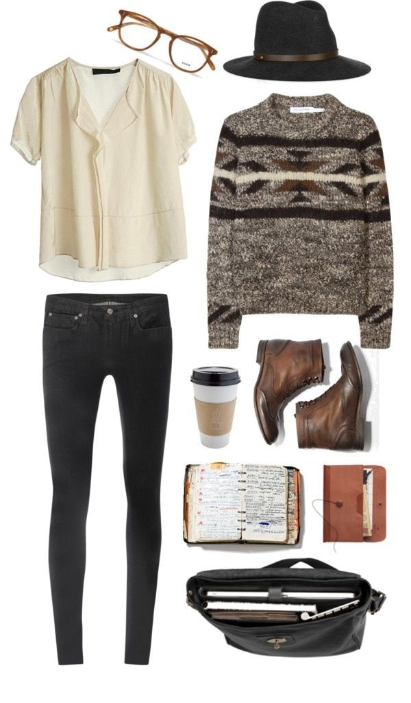 Love these colors and the casual, cozy outfit. <3 the boots!