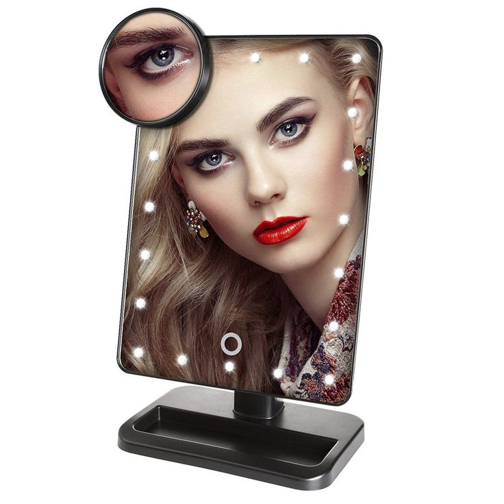 25+ best ideas about Led makeup mirror on Pinterest Makeup desk with mirror, Vanity desk with ...