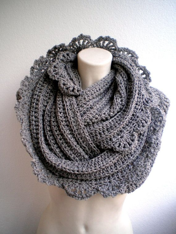 I like the idea of edging only one side of the scarf... I might have to try this with one I've already done!