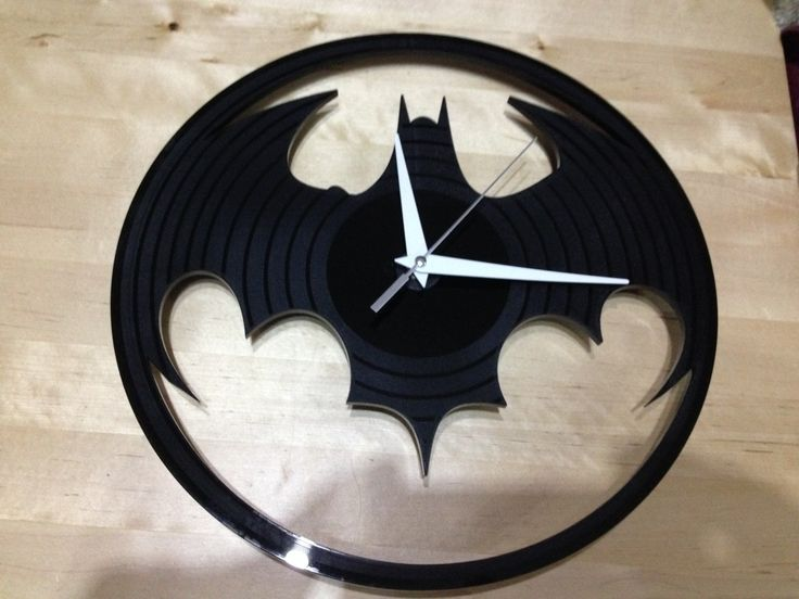 Batman Lp style Acrylic clock - Engraved and Signed