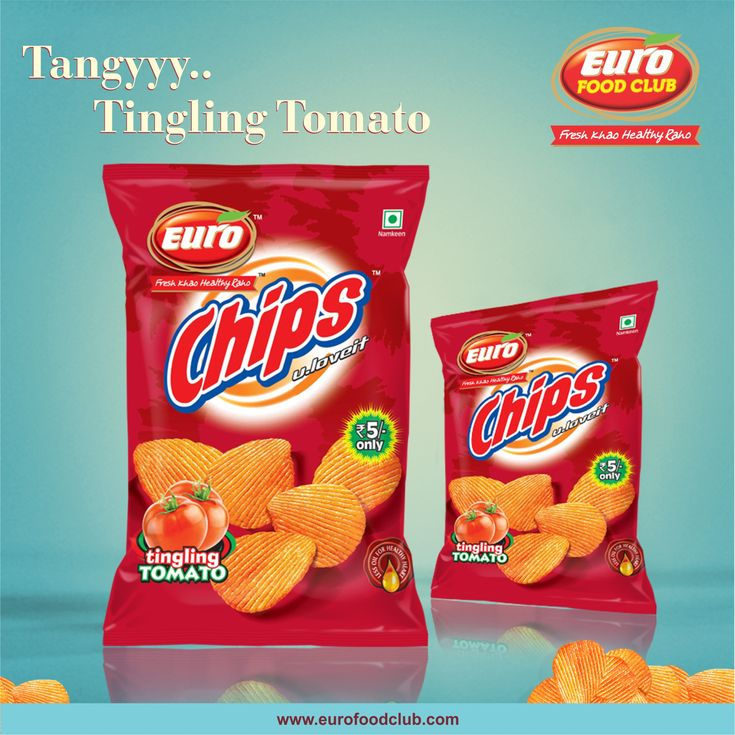 Tingling & Tangy tomato chips for instant office party along with healthy healthy Euro juices. To get the snacks and juices at office, download Euro Food Club App. #EuroFoodClub #App #Download #TangyTomato #Chips #Office #Home #Healthy #Snacks #Juice