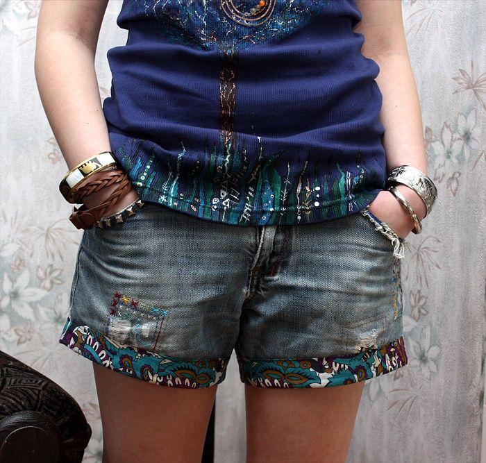 Шорты из джинсов бойфренда (DIY) / Шорты / Своими руками - выкройки, переделка одежды, декор интерьера своими руками - от ВТОРАЯ УЛИЦА