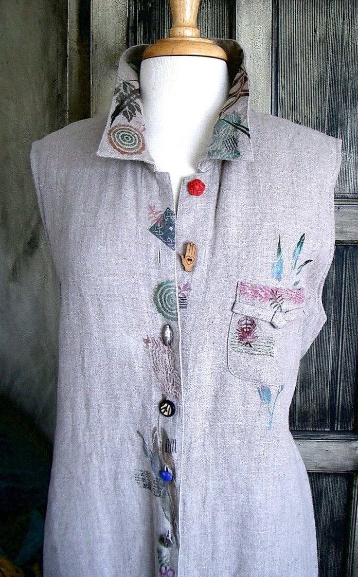 Diane Ericson Design is so simple and wearable without being flashy. One of a kind shirt.
