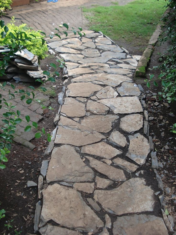 Rock Walkways Ideas Alternative Building Construction In