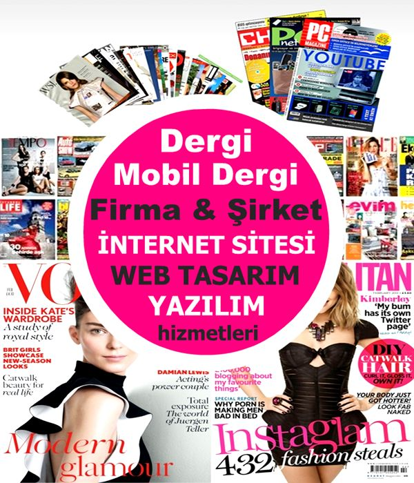 Dergi Sitesi ve Mobil Dergi Tasarımı Yazılımı