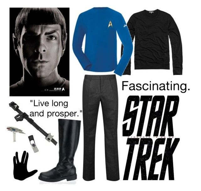 """""""Dress Like A Vulcan"""" by mind-like-a-sieve ❤ liked on Polyvore featuring James Perse, Karl Lagerfeld, Asics, Burberry, spock and star trel"""