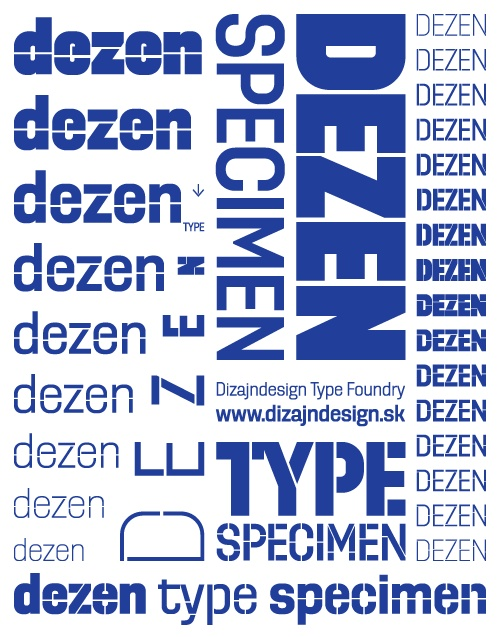 DizajnDesign - Dezen Type specimen