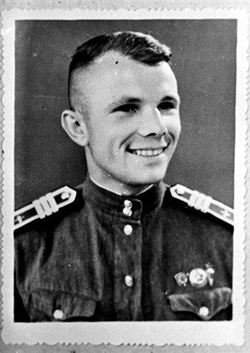 Yuri Gagarin (1934 – 1968), a Russian cosmonaut, the first human in space, as a cadet of the Air Force's Pilot School. Middle 1950s. #Russia #cosmonaut #Yuri_Gagarin