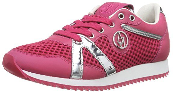 Armani Jeans Shoes & Bags DE C55C452, Damen Sneakers, Pink (FUXIA PC), 37 EU