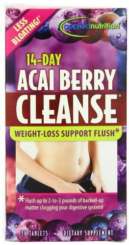 Applied Nutrition 14-Day Acai Berry Cleanse is scientifically formulated to cleanse your digestive tract and get rid of any excess matter that could be clogging your system. In just days, you can experience increased regularity, reduced bloating and a flatter... more details at http://supplements.occupationalhealthandsafetyprofessionals.com/weight-loss/detox-cleanse/product-review-for-applied-nutrition-14-day-acai-berry-cleanse-56-count-bottle/
