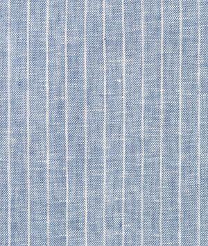 Camden's Curtains?  Denim Blue Pinstripe Chambray Linen Fabric - $25.2 | onlinefabricstore.net