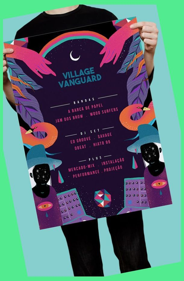 Village Vanguard Modern Event Poster Example Content Strategy Example Digital Marketing Event Poster Design Music Logo Design Graphic Poster